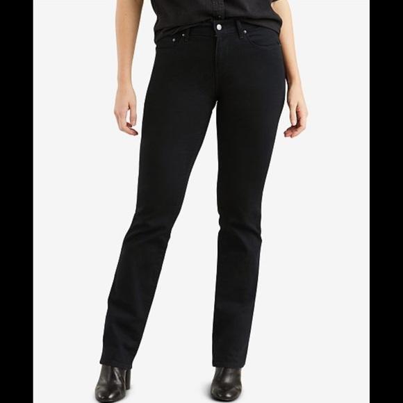 Levi's women's 505 straight leg jeans black 28